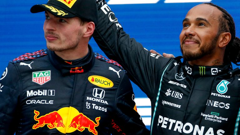 Lewis Hamilton and Max Verstappen F1 2021 Russian GP